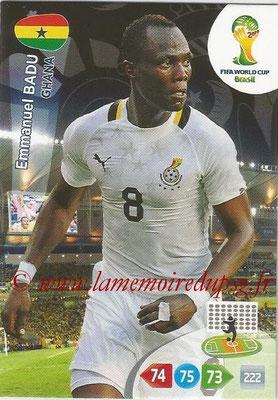 2014 - Panini FIFA World Cup Brazil Adrenalyn XL - N° 172 - Emmanuel BADU (Ghana)