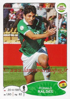 2014 - Panini Road to FIFA World Cup Brazil Stickers - N° 147 - Ronald RALDES (Bolivie)