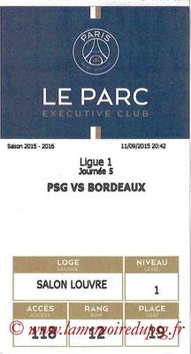 Tickets  PSG-Bordeaux  2015-16