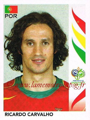 2006 - Panini FIFA World Cup Germany Stickers - N° 290 - Ricardo CARVALHO (Portugal)