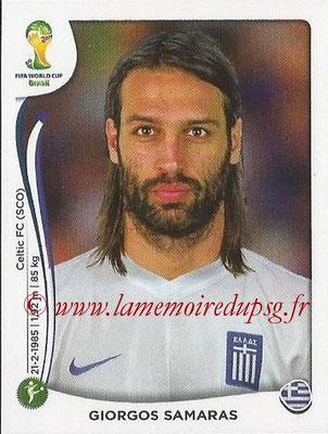 2014 - Panini FIFA World Cup Brazil Stickers - N° 218 - Giorgos SAMARAS (Grèce)