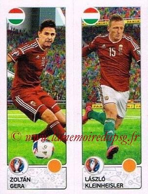 Panini Euro 2016 Stickers - N° 659 - Zoltan GERA + Laszlo KLEINHEISLER (Hongrie)