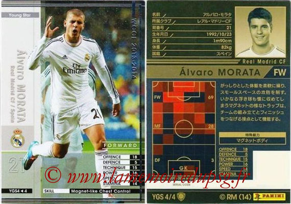 2013-14 - WCCF - N° YGS4 - Alvaro MORATA (Real Madrid CF) (Young Star)
