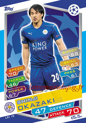 2016-17 - Topps UEFA Champions League Match Attax - N° LEI15 - Shinji OKAZAKI (Leicester City FC)