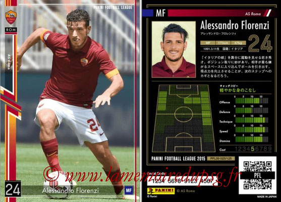 Panini Football League 2015 - PFL09 - N° 025 - Alessandro FLORENZI (AS Rome)