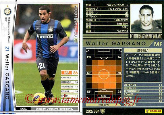 2012-13 - WCCF - N° 202 - Walter GARGANO (Inter Milan)