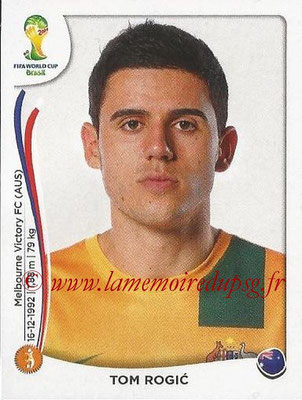 2014 - Panini FIFA World Cup Brazil Stickers - N° 177 - Tom ROGIC (Australie)
