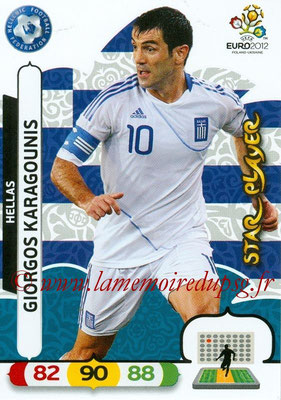 Panini Euro 2012 Cards Adrenalyn XL - N° 095 - Giorgos KARAGOUNIS (Grèce) (Star Player)