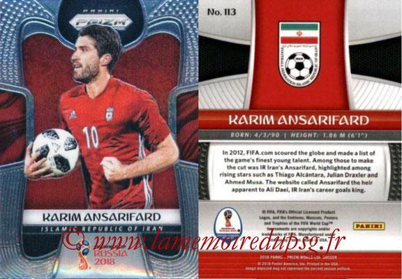 2018 - Panini Prizm FIFA World Cup Russia - N° 113 - Karim ANSARIFARD (Iran)