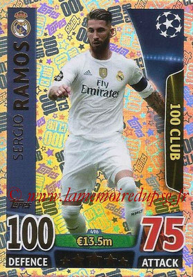 2015-16 - Topps UEFA Champions League Match Attax - N° 496 - Segio RAMOS (Real Madrid CF) (100 Club)