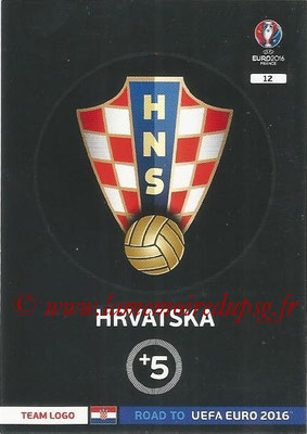 Panini Road to Euro 2016 Cards - N° 012 - Ecusson Croatie