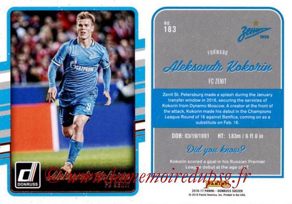 2016 - Panini Donruss Cards - N° 183 - Aleksandr KOKORIN (FC Zenit)