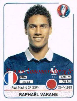 Panini Euro 2016 Stickers - N° 020 - Raphael VARANE (France)