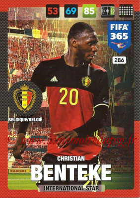 2016-17 - Panini Adrenalyn XL FIFA 365 - N° 286 - Cristian BENTEKE (Belgique) (International Star)
