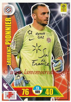 2017-18 - Panini Adrenalyn XL Ligue 1 - N° 210 - Laurent PIONNIER (Montpellier)