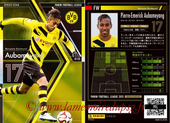 Panini Football League 2015 - PFL14 - N° 114 - Pierre-Emerick AUBAMEYANG (Borussia Dortmund) (Speed Star)