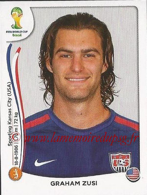 2014 - Panini FIFA World Cup Brazil Stickers - N° 557 - Graham ZUSI (Etats-Unis)