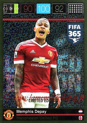 2015-16 - Panini Adrenalyn XL FIFA 365 - N° LE-MD - Memphis DEPAY (Manchester United FC) (Limited Edition)