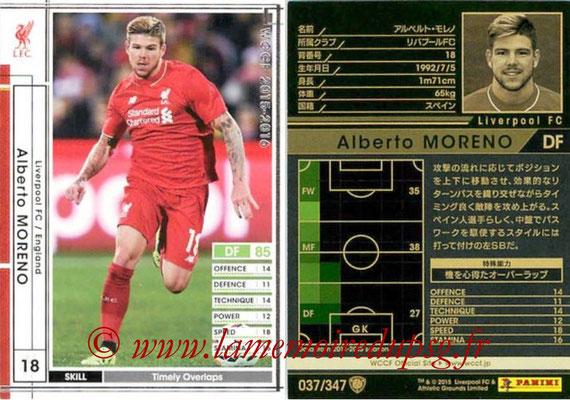 2015-16 - Panini WCCF - N° 037 - Alberto MORENO (Liverpool FC)