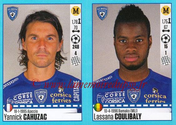2016-17 - Panini Ligue 1 Stickers - N° 074 + 075 - Yannick CAHUZAC + Lassana COULIBALY (Bastia)