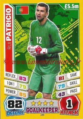 Topps Match Attax England 2014 - N° 186 - Rui PATRICIO (Portugal)