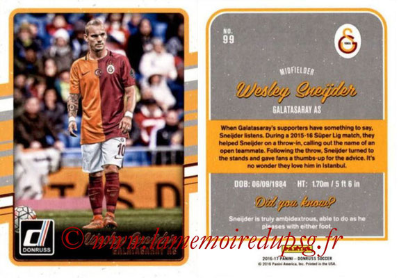2016 - Panini Donruss Cards - N° 099 - Wesley SNEIDJER (Galatasaray AS)