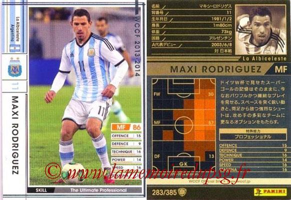 2013-14 - WCCF - N° 283 - Maxi RODRIGUEZ (Argentine)