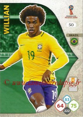 2018 - Panini FIFA World Cup Russia Adrenalyn XL - N° 050 - WILLIAN (Brésil)
