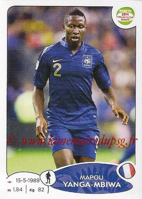 2014 - Panini Road to FIFA World Cup Brazil Stickers - N° 097 - Mapou YANGA-MBIWA (France)