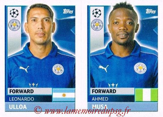 2016-17 - Topps UEFA Champions League Stickers - N° LEI 16-17 - Ahmed MUSA + Leonardo ULLOA (Leicester City FC)