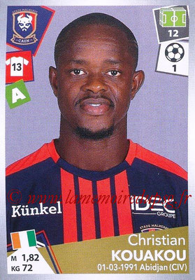 2017-18 - Panini Ligue 1 Stickers - N° 095 - Christian KOUAKOU (Caen)