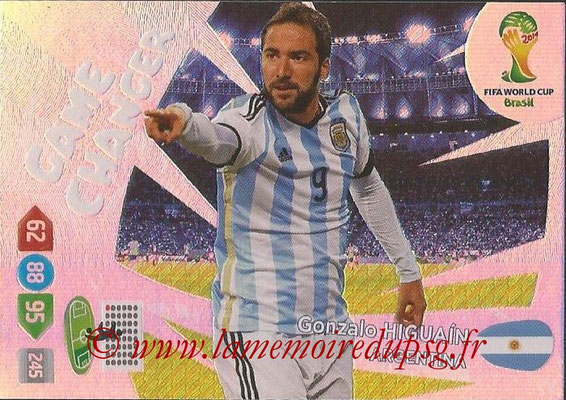 2014 - Panini FIFA World Cup Brazil Adrenalyn XL - N° 388 - Gonzalo HIGUAIN (Argentine) (Game Changer)