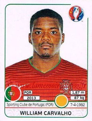 Panini Euro 2016 Stickers - N° 587 - William CARVALHO (Portugal)