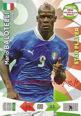 2014 - Panini Road to FIFA World Cup Brazil Adrenalyn XL - N° 127 - Mario BALOTELLI (Italie) (Star Player)