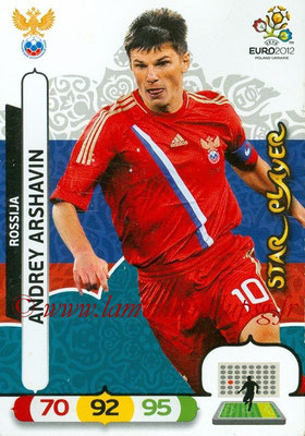 Panini Euro 2012 Cards Adrenalyn XL - N° 201 - Andrey ARSHAVIN (Russie) (Star Player)