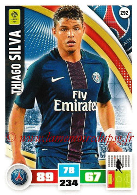 2016-17 - Panini Adrenalyn XL Ligue 1 - N° 292 - Thiago SILVA (Paris Saint-Germain)