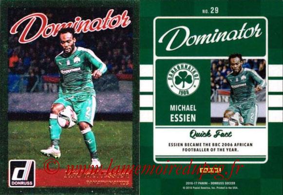 2016 - Panini Donruss Cards - N° D29 - Michael ESSIEN (Panathinaikos) (Dominator)