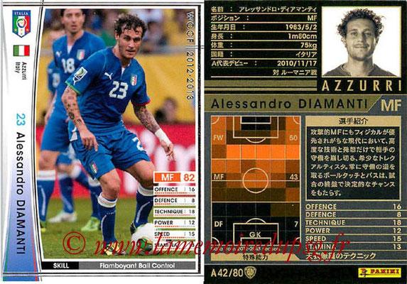 2012-13 - WCCF - N° A42 - Alessandro DIAMANTI (Italie)