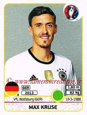 Panini Euro 2016 Stickers - N° 259 - Max KRUSE (Allemagne)
