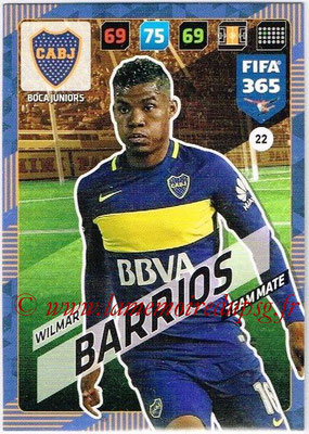 2017-18 - Panini FIFA 365 Cards - N° 022 - Wilmar BARRIOS (Boca Juniors)
