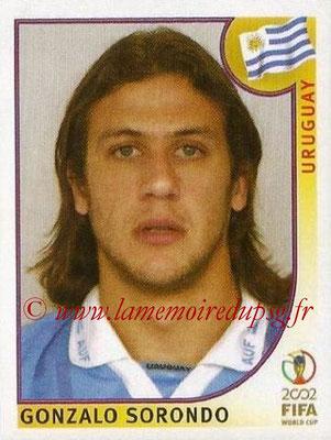 2002 - Panini FIFA World Cup Stickers - N° 067 - Gonzalo SORONDO (Uruguay)