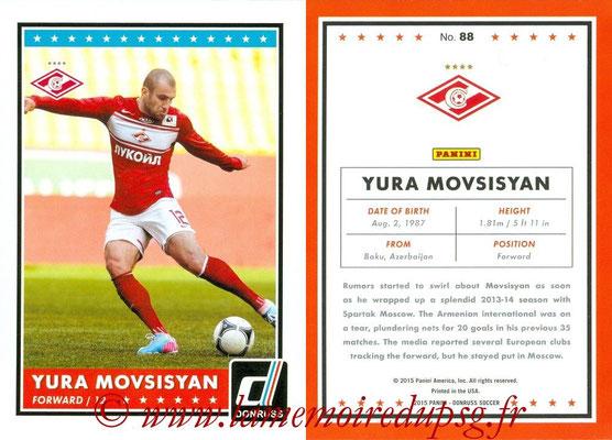 2015 - Panini Donruss Soccer - N° 088 - Yura MOVSISYAN (Spartak Moscou)