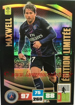2016-17 - Panini Adrenalyn XL Ligue 1 - N° LE-MX - MAXWELL (Paris Saint-Germain) (Edition Limitée)
