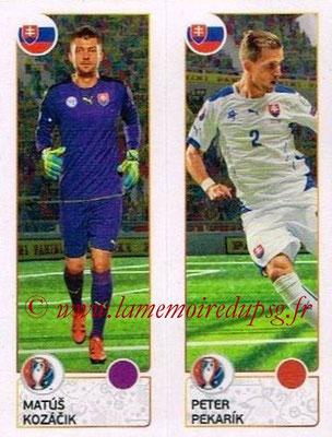 Panini Euro 2016 Stickers - N° 208 - Matus KOZACIK + Peter PEKARIK (Slovénie)