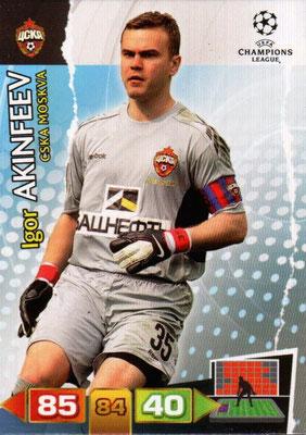 2011-12 - Panini Champions League Cards - N° 095 - Igor AKINFEEV (CSKA Moscou)