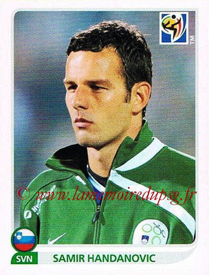 2010 - Panini FIFA World Cup South Africa Stickers - N° 241 - Samir HANDANOVIC (Slovenie)