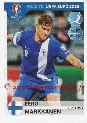 Panini Road to Euro 2016 Stickers - N° 336 - Eero MARKKANEN (Finlande)