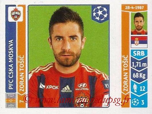 2014-15 - Panini Champions League N° 388 - Zoran TOSIC (PFC CSKA Moscou)