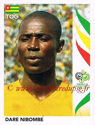 2006 - Panini FIFA World Cup Germany Stickers - N° 518 - Dare NIBOMBE (Togo)