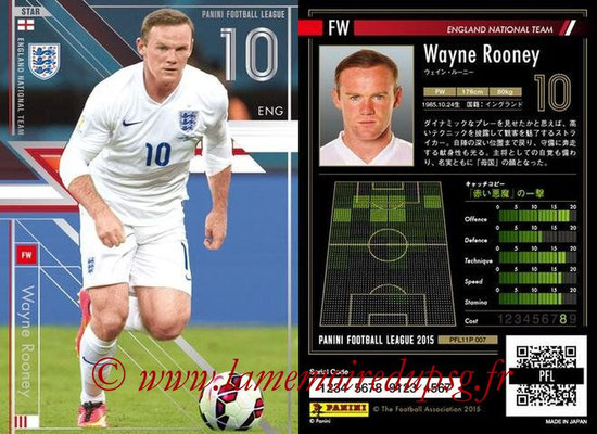 Panini Football League 2015 - PFL11P - N° 007 - Wayne ROONEY (Angleterre) (Star)